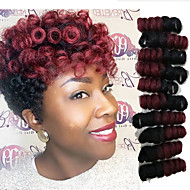 "Tresses Twist 1 pc / paquet Tresse Natté Tresses au Crochet Bouncy Curl 10"" Fibre synthétique Noir / Blond Fraise Noir / Medium Auburn"
