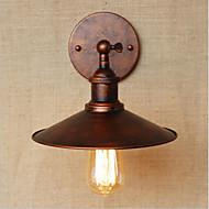 billige Vegglamper-Land / Retro Rød Vegglamper Metall Vegglampe 110-120V / 220-240V 40W