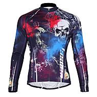 TASDAN Camisa para Ciclismo Moto Camisa/Roupas Para Esporte Homens Secagem Rápida Respirável Bolso Traseiro 100% Poliéster Sólido