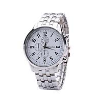 Masculino Relógio Elegante Quartzo Lega Banda Casual Prata Branco Preto Azul