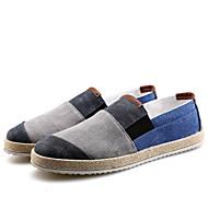 baratos Sapatos Masculinos-Homens Lona Primavera / Verão Conforto / Solados com Luzes Mocassins e Slip-Ons Caminhada Cinzento / Azul / Preto / Vermelho