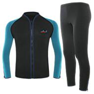 hesapli Blue Dive®-BlueDive® Unisex 2mm Full Dalış Elbisesi Sıcak Tutma Hızlı Kuruma Ön Fermuar Giyilebilir Dikişsiz Miękki Naylon Neoprene Dalgıç elbisesi