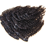 100% Human Hair Natural Clip In Human Hair Extensions Kinky Culry Brazilian Hair Clip In Extension 10Pcs/Set 120g