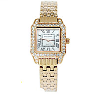 Жен. Модные часы Кварцевый сплав Группа Серебристый металл Золотистый
