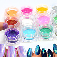 12bottle/set Nail Art decorare stras Perle machiaj cosmetice Nail Art Design