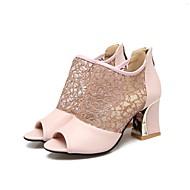 baratos Sapatos Femininos-Mulheres Sapatos Materiais Customizados Primavera Verão Buraco Shoes Sapatos clube Solados com Luzes Gladiador Inovador Conforto Saltos