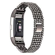 billiga Smart klocka Tillbehör-Klockarmband för Fitbit Charge 2 Fitbit Modernt spänne Metall Rostfritt stål Handledsrem
