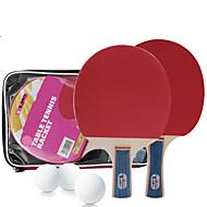 Ping Pang/Tischtennis-Schläger Ping Pang/Tischtennisball Ping Pang Kork Langer Griff Pickel 2 Schläger 3 Tischtennisbälle 1