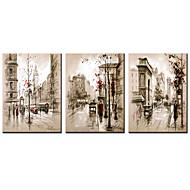 baratos -Estampados de Lonas Esticada Famoso Paisagens Abstratas Modern Realismo,3 Painéis Tela Horizontal Estampado Decoração de Parede For