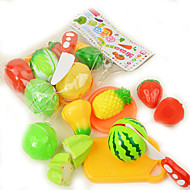 cheap Dress Up & Pretend Play-Toy Kitchen Sets Toy Food / Play Food Toy Kitchens & Play Food Toy Circular Vegetables Plastic Girls' Kid's Gift 9pcs