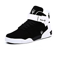 Heren Sneakers Basketbal Comfortabel Fleece Microvezel Lente Herfst Winter Sportief Causaal Combinatie Magic tape Haak & Lus Platte hak