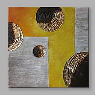 halpa -Maalattu Abstrakti Neliö,Moderni 1 paneeli Kanvas Hang-Painted öljymaalaus For Kodinsisustus