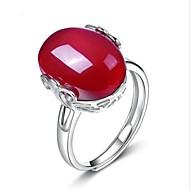 Dame Ring - Sølv, Krystal, Agat Dråbe Unikt design En størrelse Rød Til Bryllup / Fest / Speciel Lejlighed