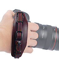 Liyca ekte lærbrunt videokameravest for en-skulder vanntett