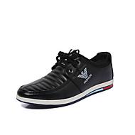 Erkek Spor Ayakkabısı Yürüyüş Rahat Hafif Tabanlar Mikrofiber Bahar Yaz Sonbahar Kış Günlük Aplik Kurdele Bağcık Düz Topuk Siyah Mavi Haki