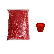 solong tetoválás 1000 db tetováló festékek poharak műanyag kupakok közepes méretű piros tc102-2