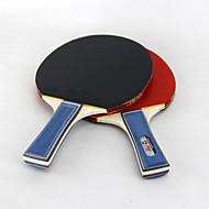 3 별 Ping Pang/탁구 라켓 Ping Pang/탁구 공 Ping Pang 고무 짧은 핸들 여드름 2 라켓 3 탁구공 야외 성능 프랙티스 레저 스포츠