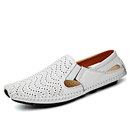 cheap Plus Size Shoes-Men's Shoes Nappa Leather Spring / Summer / Fall Comfort / Driving Shoes Loafers & Slip-Ons Walking Shoes Yellow / Brown / Blue