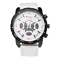 JUBAOLI Homens Quartzo Relógio de Pulso Relógio Casual Tecido Banda Amuleto Fashion Preta Branco Azul