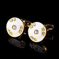 cheap Men's Accessories-Geometric White Black Cufflinks Copper Fashion Gift Boxes & Bags Men's Costume Jewelry