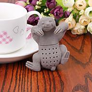 Manual de preguiça infusor de chá silicone coador de café bebida bonito 1pc (cor aleatória)