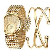 billige Quartz-Dame Quartz Armbåndsur Sej Rustfrit stål Bånd Vedhæng / Luksus / Glitrende / Punkt / Afslappet / Bohemisk / Mode / Armring Guld