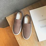 Damen-Loafers & Slip-Ons-Lässig-Stoff-Flacher Absatz-Komfort-Schwarz Grau
