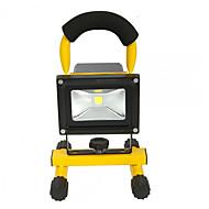 hkv®1pcs 10w 900-1000lm白い光携帯用充電式洪水ライト非常灯ライト投光器ac 85-265v