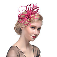 Tulle / Rhinestone / Feather Headbands / Fascinators / Headwear with Floral 1pc Wedding / Special Occasion Headpiece