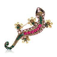 hesapli -Kadın's Broşlar Hayvan Tasarımı Euramerican Moda Yapay Elmas alaşım Hayvan Çeşitli Renk Mücevher Uyumluluk Düğün Parti Özel Anlar Günlük