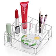 akryl firkantet sminke oppbevaring stå børste potet kosmetisk arrangør for leppestift neglelakk