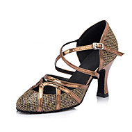 "Women's Modern Leatherette Sandal Heel Professional Buckle Customized Heel Brown 1"" - 1 3/4"" 2"" - 2 3/4"" 3"" - 3 3/4"" 4"" & Up Customizable"