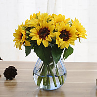 Cheap artificial flowers online artificial flowers for 2018 6 branches sunflower artificial flowers home decoration wedding supply mightylinksfo