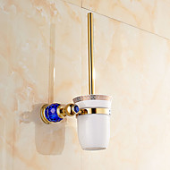 cheap Gold Series-Toilet Brush Holder Contemporary Brass 1 pc - Hotel bath