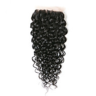 8Inch Braizlian Kinky Curly Closure Best Virgin Brazilian Lace Closure Bleached Knots closures Free/Middle/3Part Closure