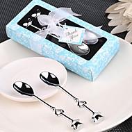 זול מזכרות שימושיות-10box / set כפות תה כרום / סקופים גלידה (קבוצה של 2) חתונה טובה מתנות טובות יותר אספקה החוף החוף