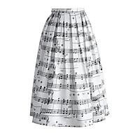 Ženske A kroj Ulični šik Visoki struk Ležerno/za svaki dan Maxi Suknje Print All Seasons