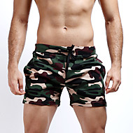 cheap -Men's Active / Street chic / Military Cotton Straight / Slim / Shorts Pants - Camo / Camouflage Gray / Beach / Weekend