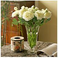 10 kusů 10 Větev Hedvábí Pivoňky Květina na stůl Umělé květiny