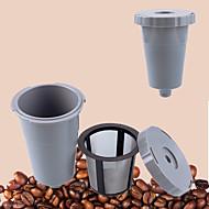 1pcs novo hot k-copos café recarregável único copo reutilizável filtro para máquina de café malha de malha de aço inoxidável