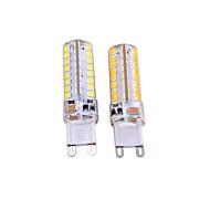 baratos Luzes LED de Dois Pinos-2pcs 3W 550-650lm G9 Luminárias de LED  Duplo-Pin T 64 Contas LED SMD 2835 Decorativa Branco Quente Branco 110-130V 220-240V