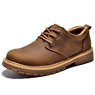 お買い得  メンズオックスフォードシューズ-男性用 靴 ナパ革 春 / 秋 コンフォートシューズ オックスフォードシューズ コーヒー / ライトブラウン