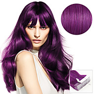 20PCS Tape In Hair Extensions Purple Lusty Lavender Berry Blat 40g 16Inch 20Inch 100% Human Hair For Women