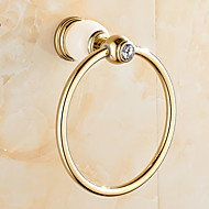 cheap Gold Series-Towel Bar Contemporary Brass 1 pc - Hotel bath towel ring