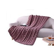 Tricotado,Sólido Sólido Lã / Algodão cobertores