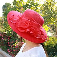 Χαμηλού Κόστους Αξεσουάρ-Γυναικεία Μονόχρωμο Χαριτωμένο Γιορτή Πολυεστέρας Πλισέ - Τύπου bucket Καπέλο ηλίου