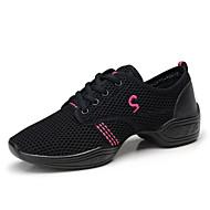 baratos Sapatilhas de Dança-Mulheres Tênis de Dança Couro / Sintético Têni Salto Baixo Não Personalizável Sapatos de Dança Fúcsia / Rosa / Preto / Preto e Dourado / Espetáculo