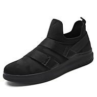 billige Træningssko til herrer-Herre Sko Tyl Forår / Efterår Komfort Sneakers Gang Sort / Sort / Rød / Sort / Hvid