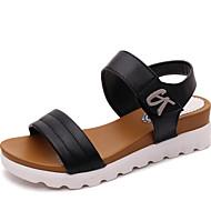 Kadın Sandaletler Yürüyüş Kulüp Ayakkabı Yapay Deri Bahar Yaz Sonbahar Günlük Toka Platform Beyaz Siyah 1inç-1 3/4inç