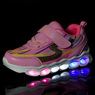 Dívčí Tenisky Pohodlné Svítící boty Léto Podzim Prodyšná síťovina Syntetika Ležérní Party Klín Háčky a očka LED Plochá podrážkaModrá